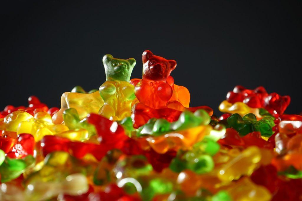 bonbon avec colorant